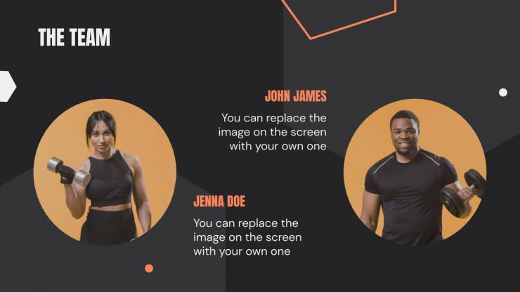 Fitness-App Pitch Deck Präsentationsvorlage
