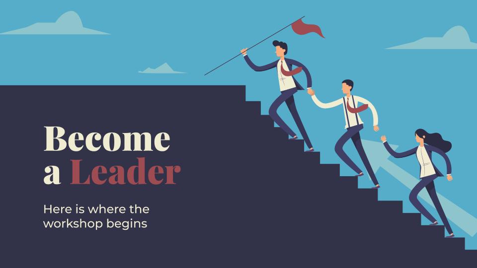Plantilla de presentación Sé un líder