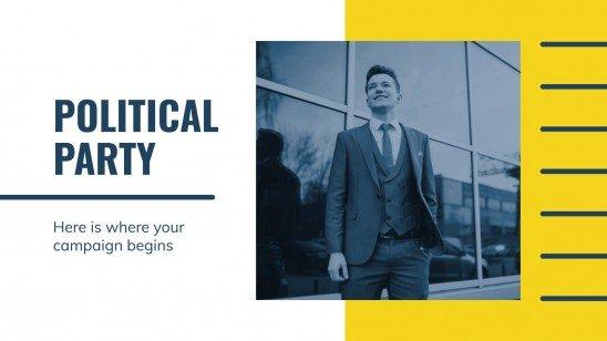 Politische Parteikampagne Präsentationsvorlage