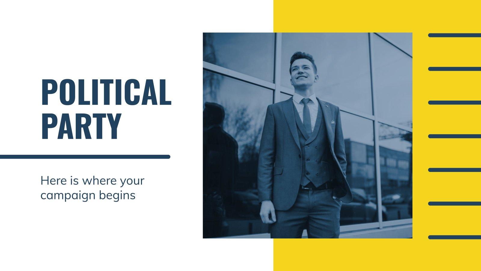Plantilla de presentación Campaña política