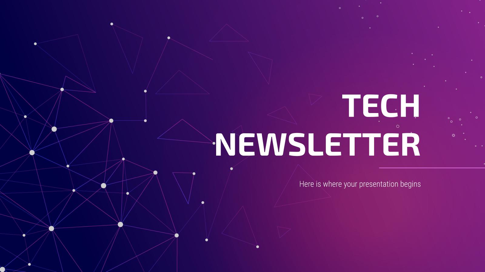 Tech Newsletter presentation template