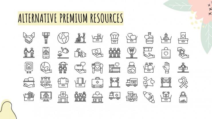 Plan marketing à but non lucratif floral : Modèles de présentation