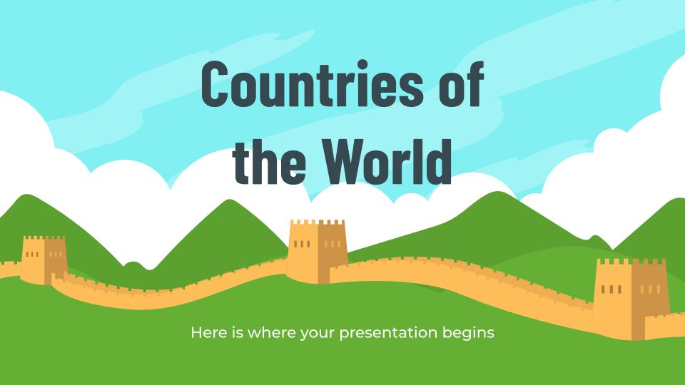Pays du monde : Modèles de présentation