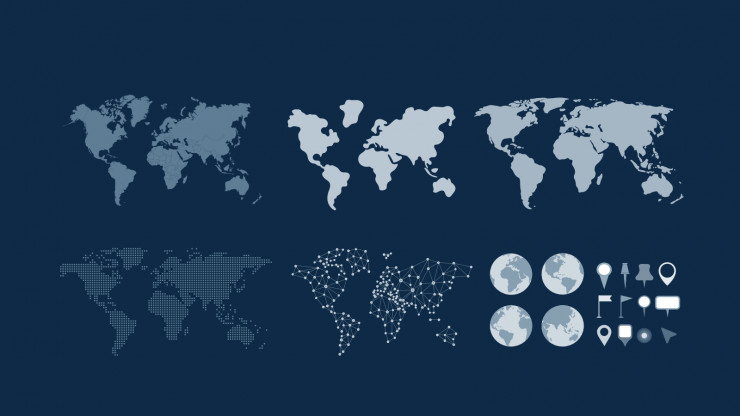 Modelo de apresentação Países do mundo