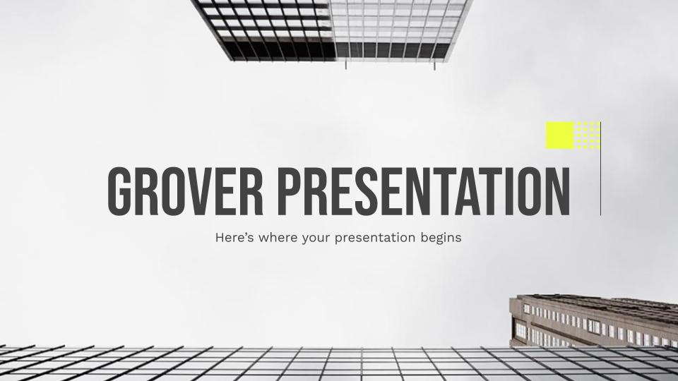 Grover : Modèles de présentation