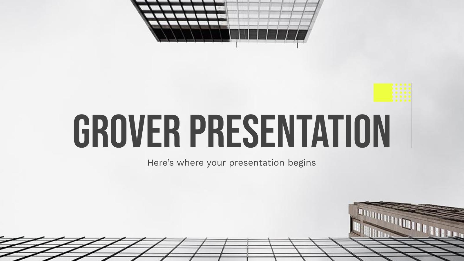 Plantilla de presentación Grover