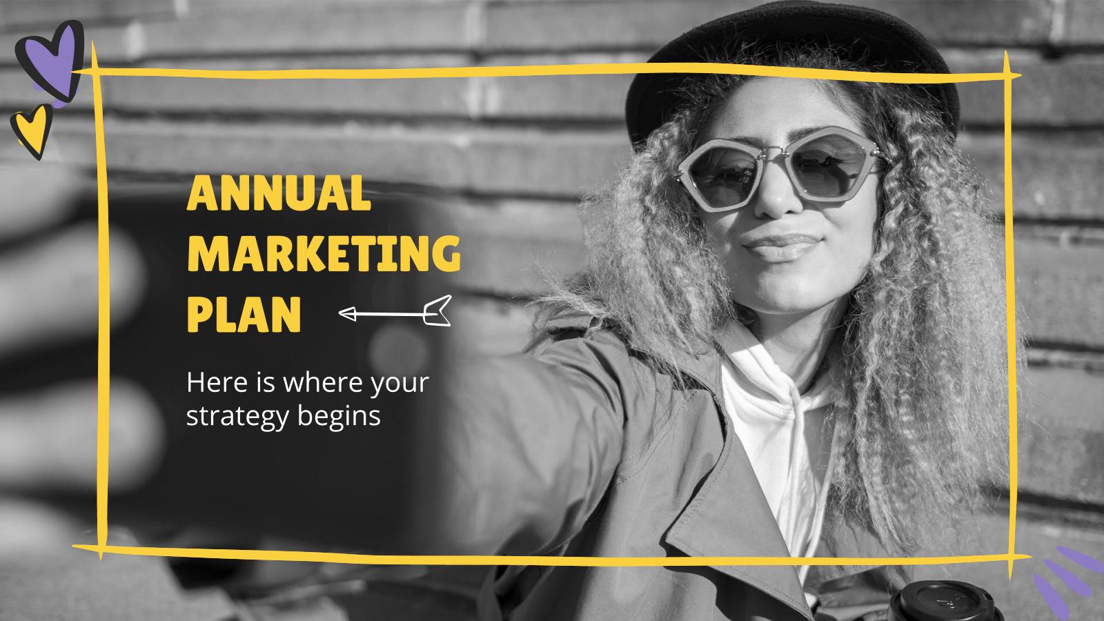 Modelo de apresentação Plano de marketing anual