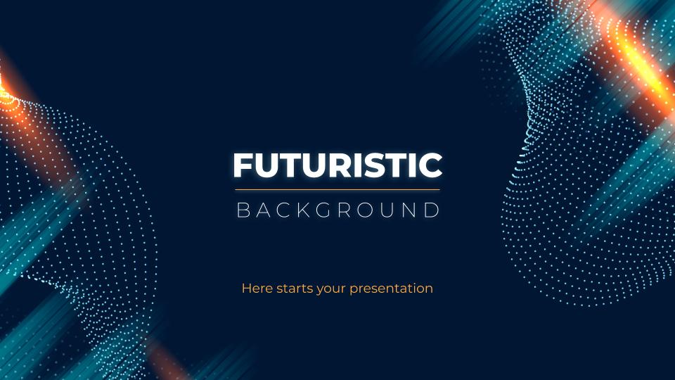 Plantilla de presentación Fondos futuristas