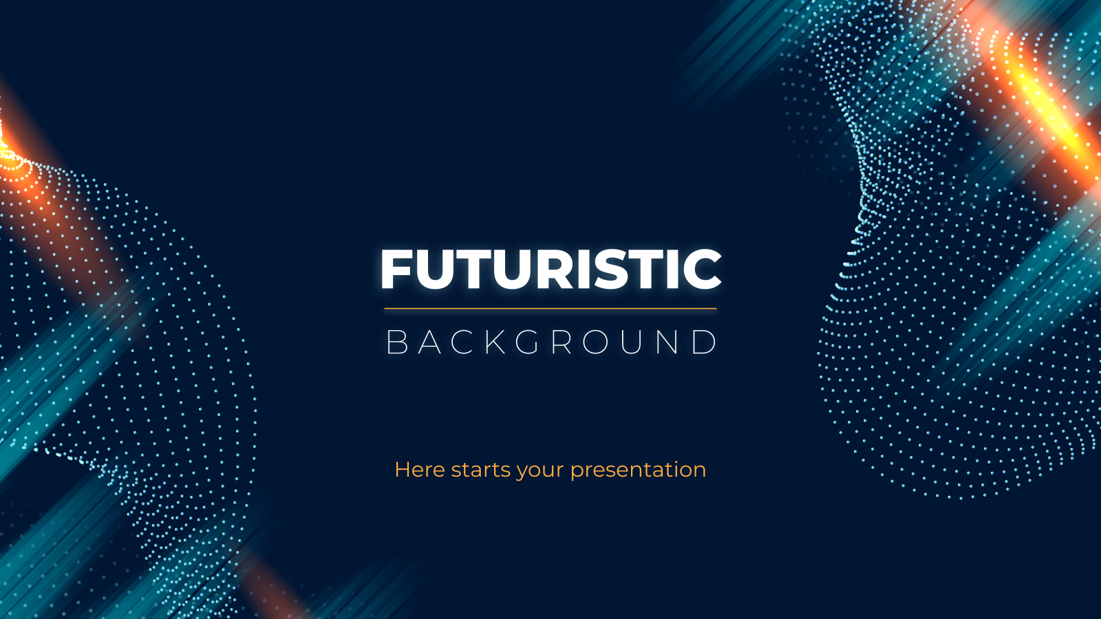 Futuristic Background presentation template