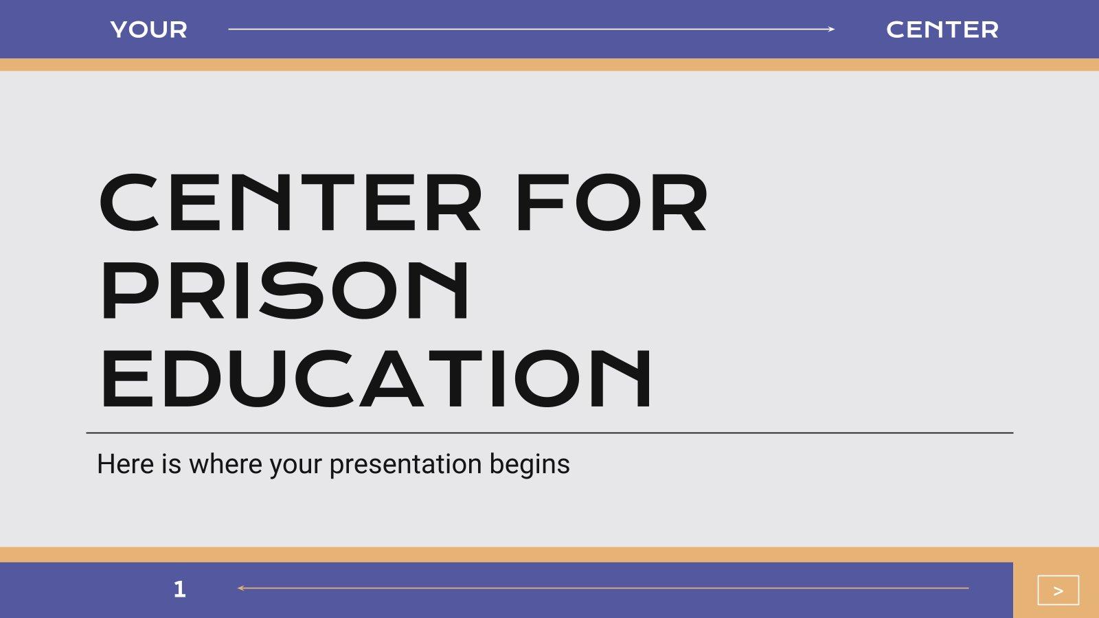 Modelo de apresentação Aulas para reclusos em uma prisão