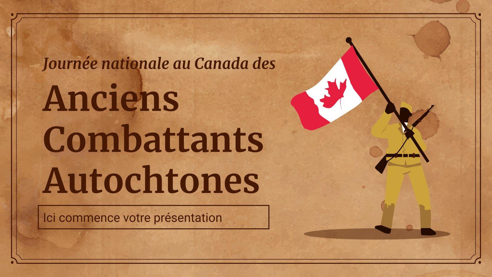 Nationaler Tag der Aborigines-Veteranen in Kanada Präsentationsvorlage