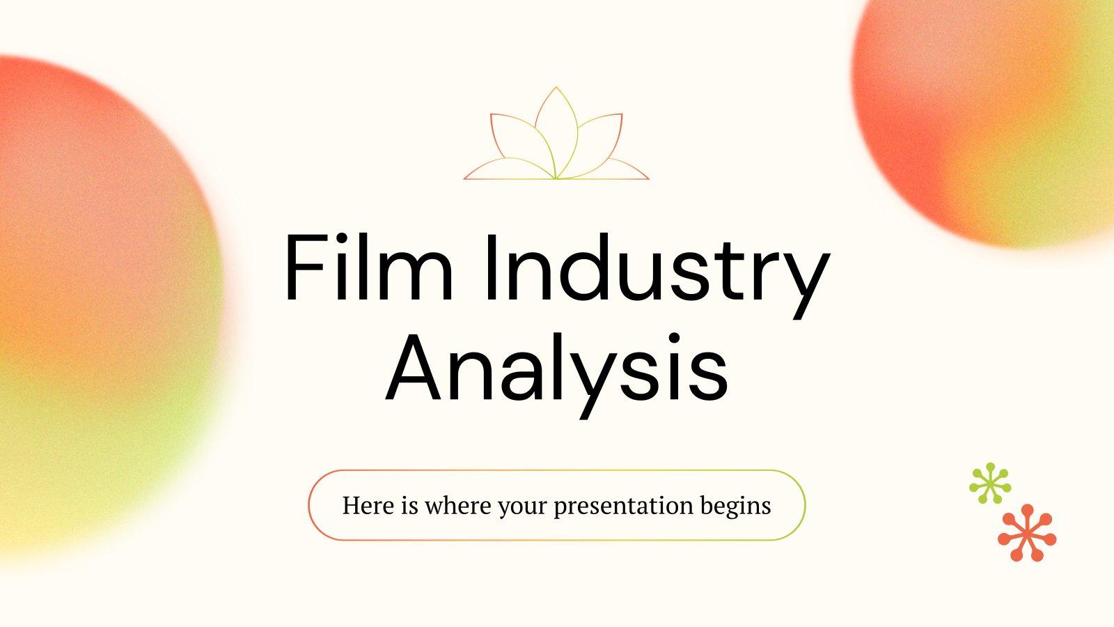 Analyse der Filmindustrie Präsentationsvorlage