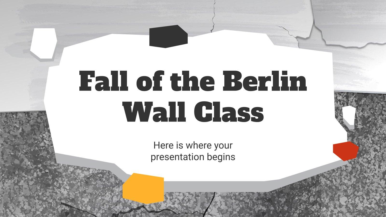 Der Mauerfall als Thema im Unterricht Präsentationsvorlage