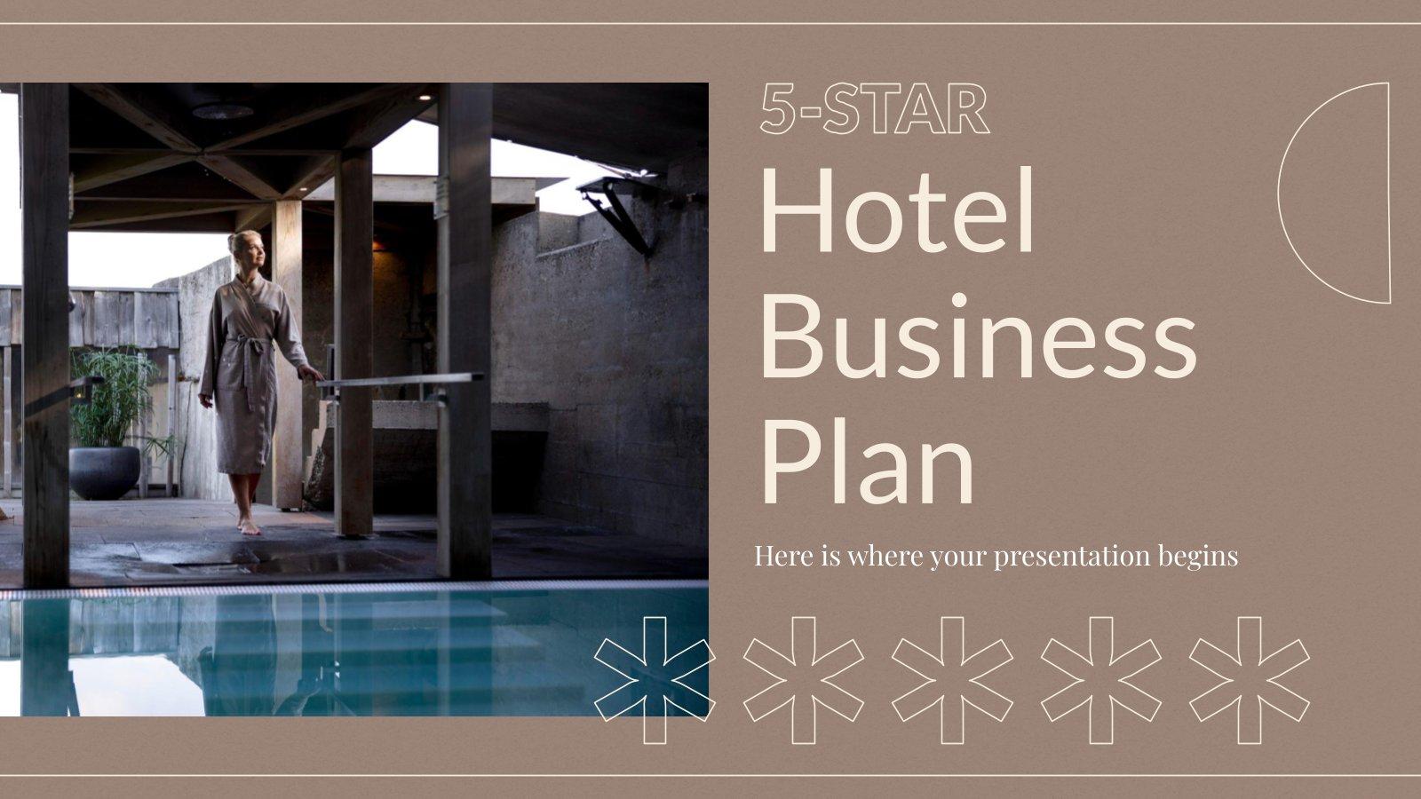 5 Sterne Hotel Business Plan Präsentationsvorlage
