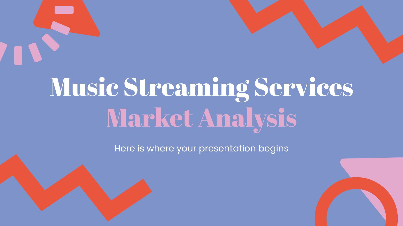 Music Streaming Services Market Analysis presentation template
