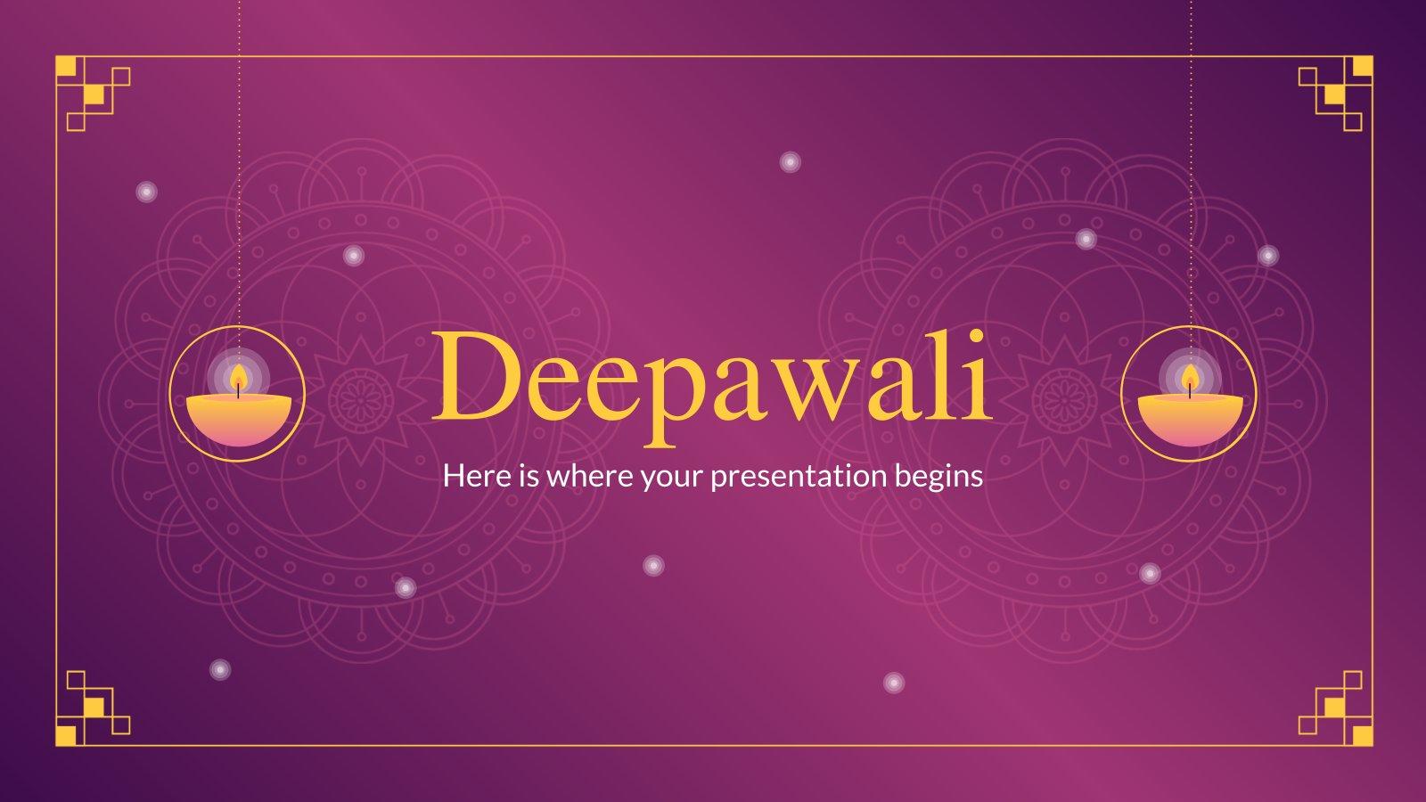Deepawali Präsentationsvorlage