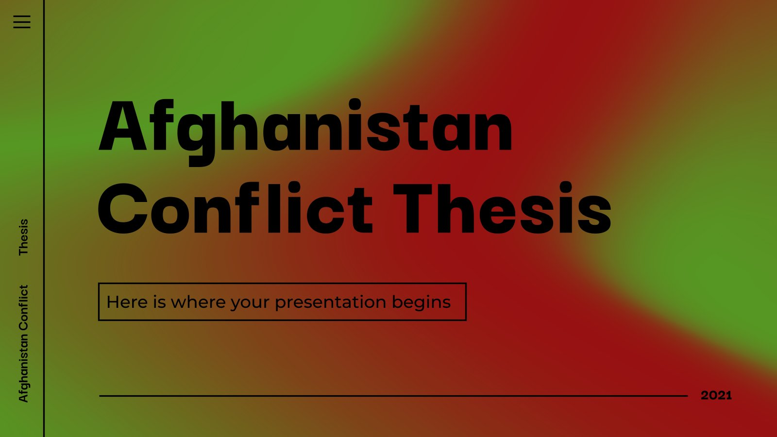 Afghanistan Conflict Thesis presentation template