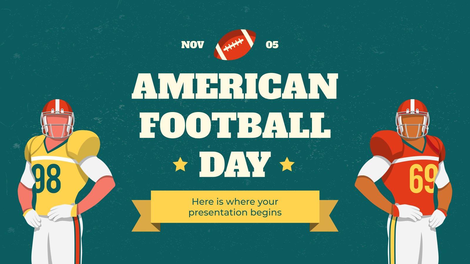 Journée du football américain : Modèles de présentation