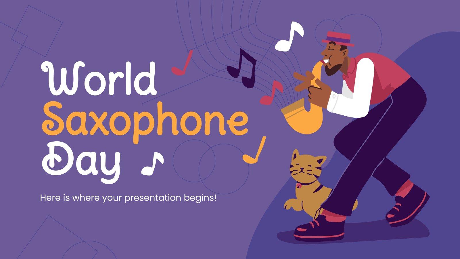 Tag des Saxophones Präsentationsvorlage