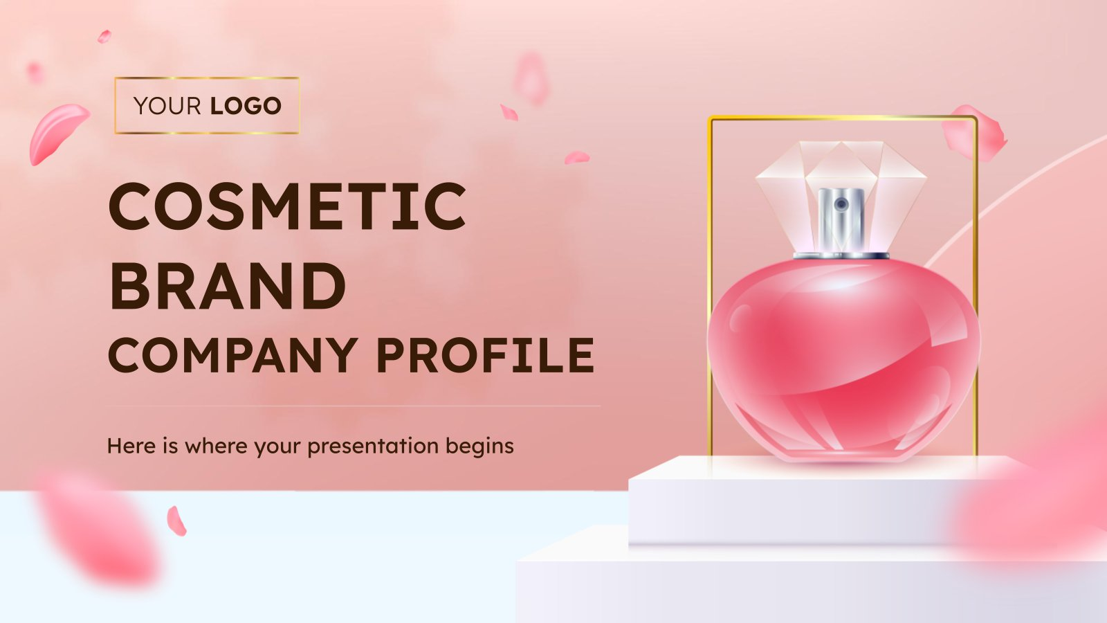 Profil d'entreprise d'une marque de cosmétiques : Modèles de présentation