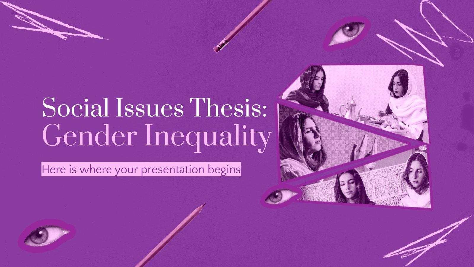 Plantilla de presentación Tesis sobre la desigualdad de género