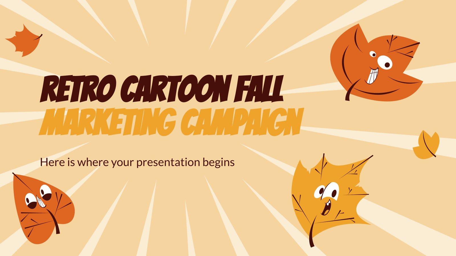 Modelo de apresentação Campanha de marketing de outono de design retrô