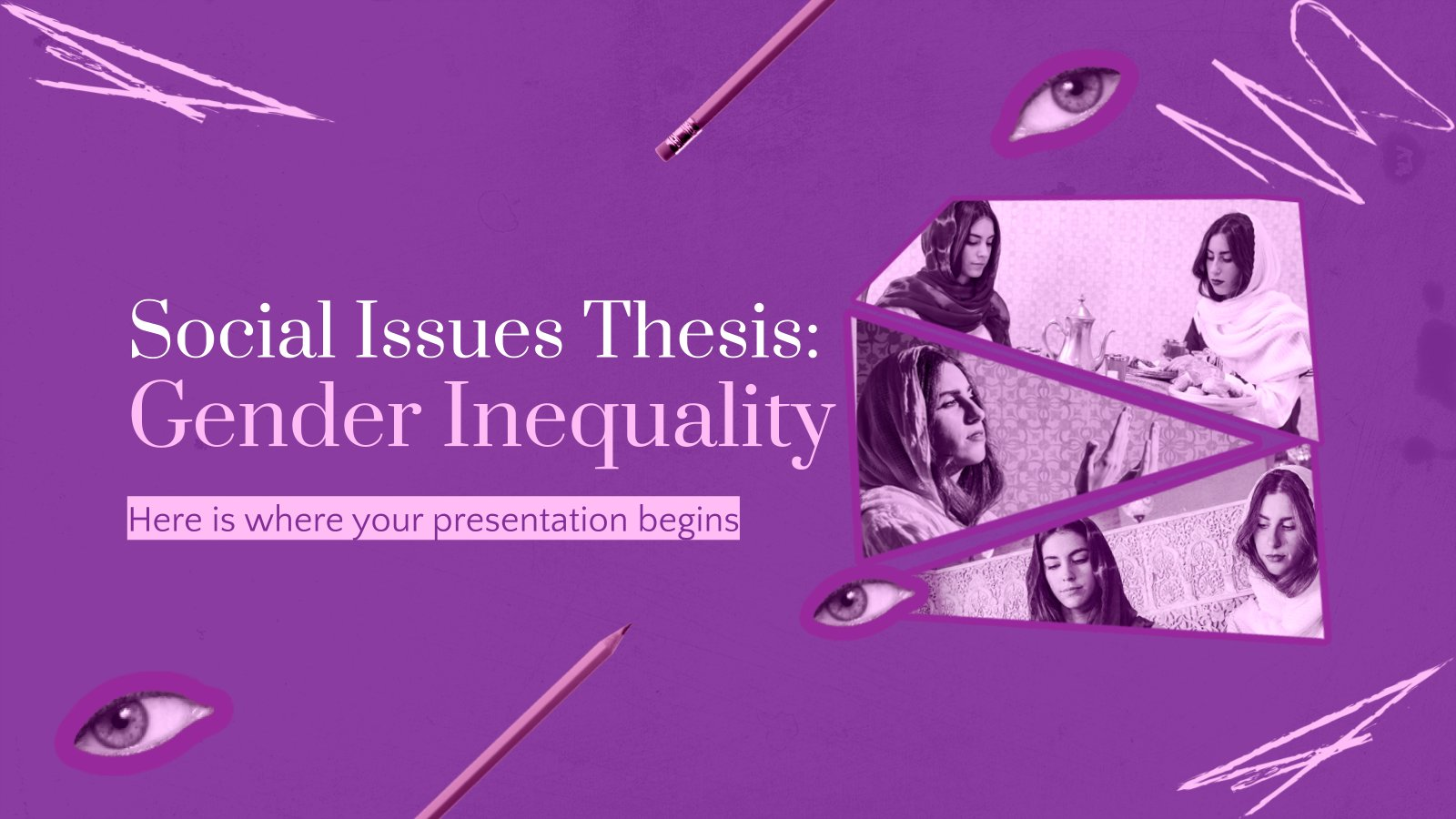 Social Issues Thesis: Gender Inequality presentation template