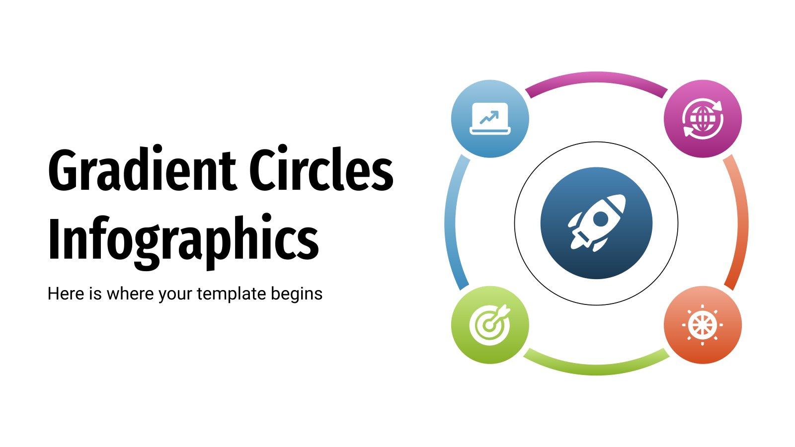 Gradient Circles Infographics presentation template