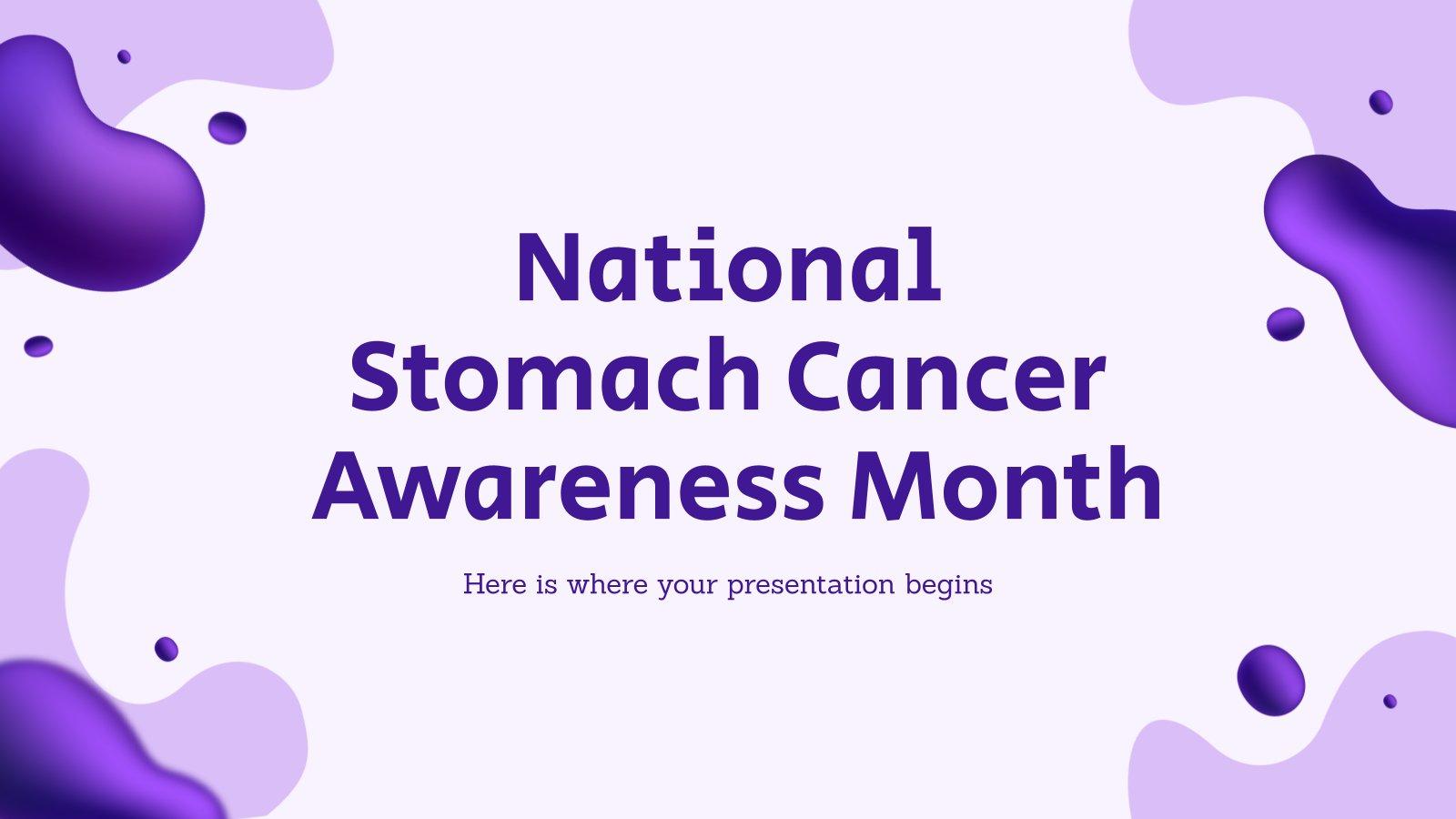 Plantilla de presentación Mes de la concienciación del cáncer de estómago en EE. UU.