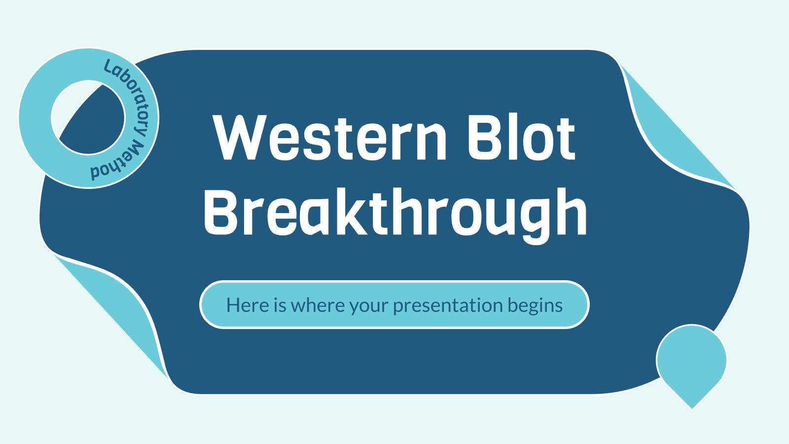 Western Blot Durchbruch Präsentationsvorlage
