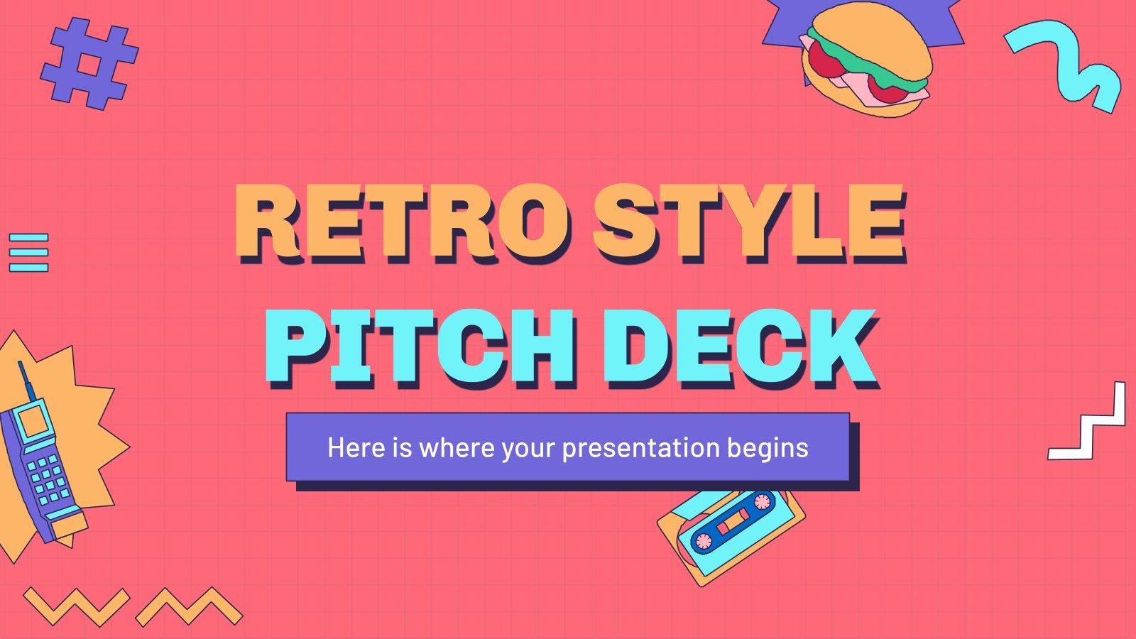 Retro Style Pitch Deck presentation template
