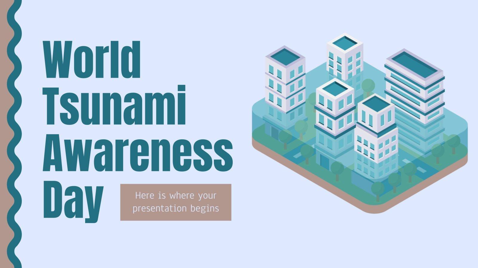 Modelo de apresentação Dia Mundial de Conscientização sobre Tsunamis