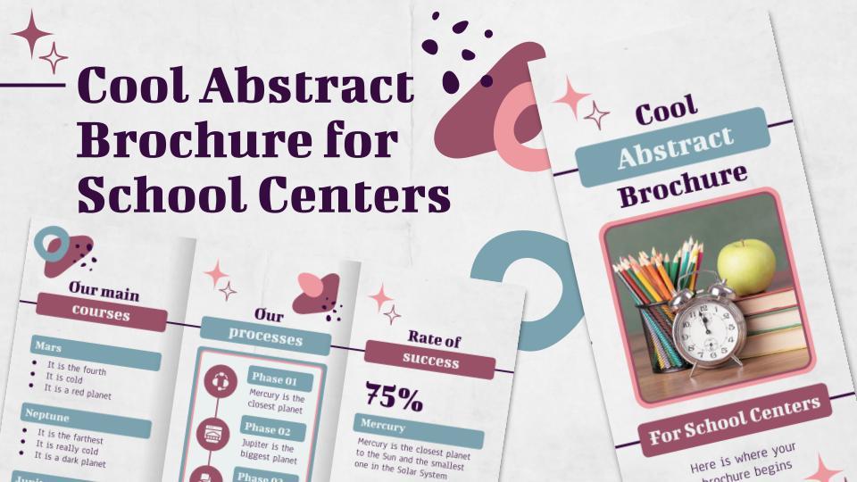 Brochure abstraite pour les établissements scolaires : Modèles de présentation