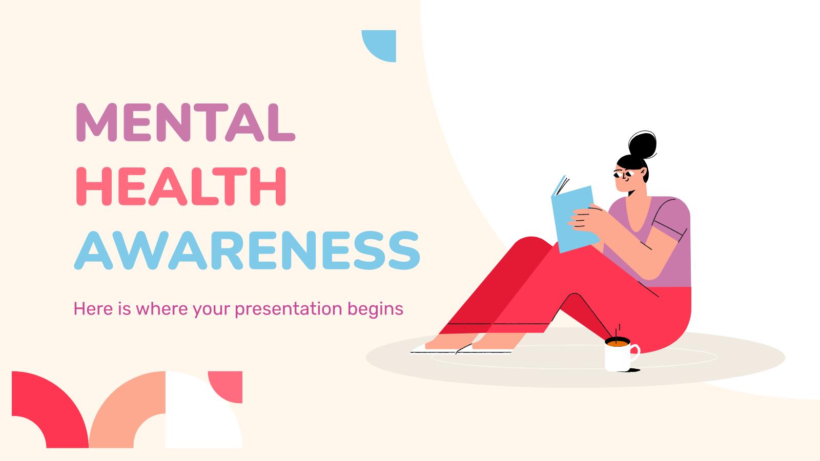 Plantilla de presentación Conciencia sobre la salud mental