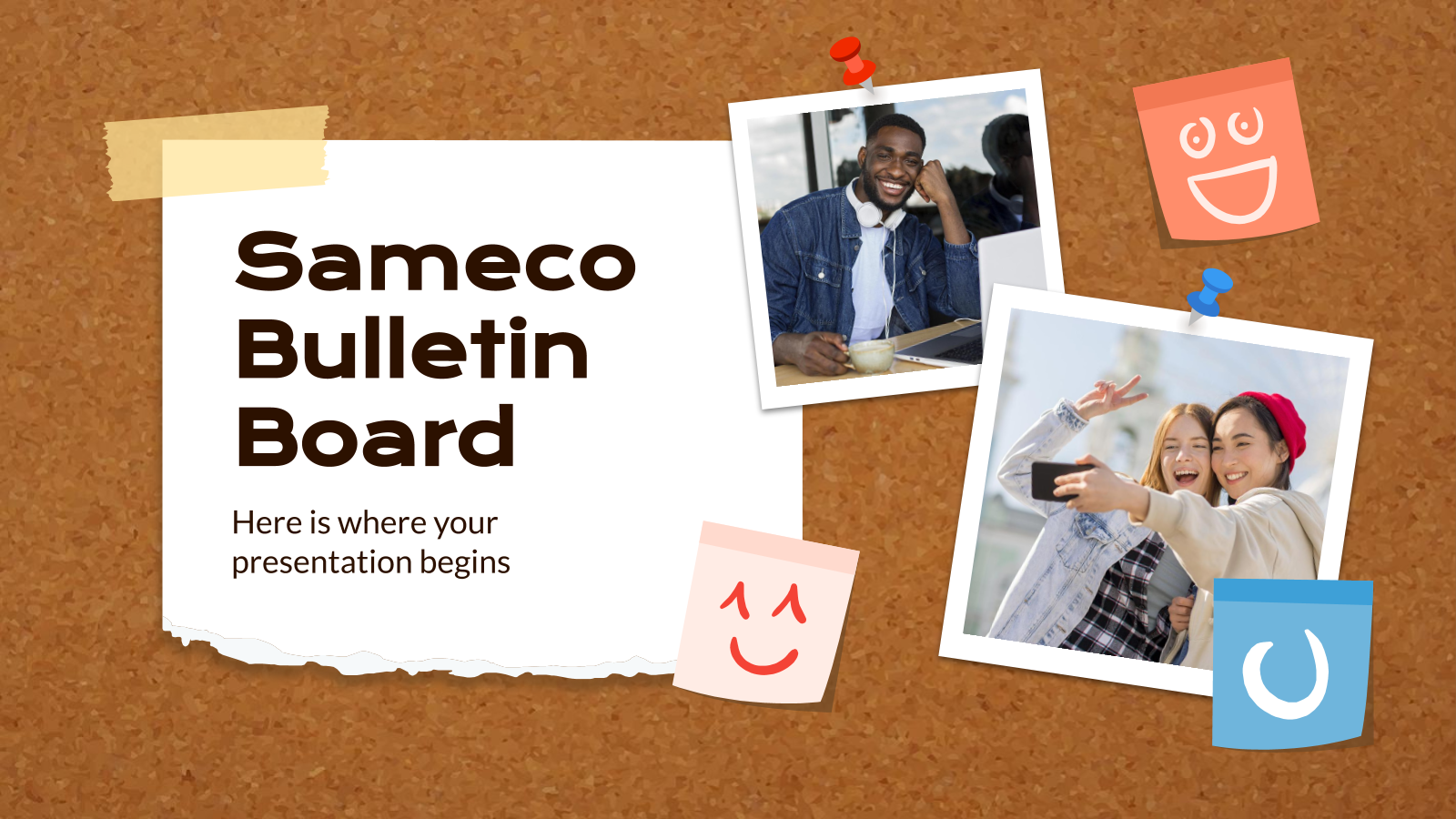 Sameco Bulletin Board presentation template
