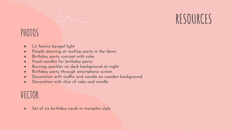 Birthday Party presentation template