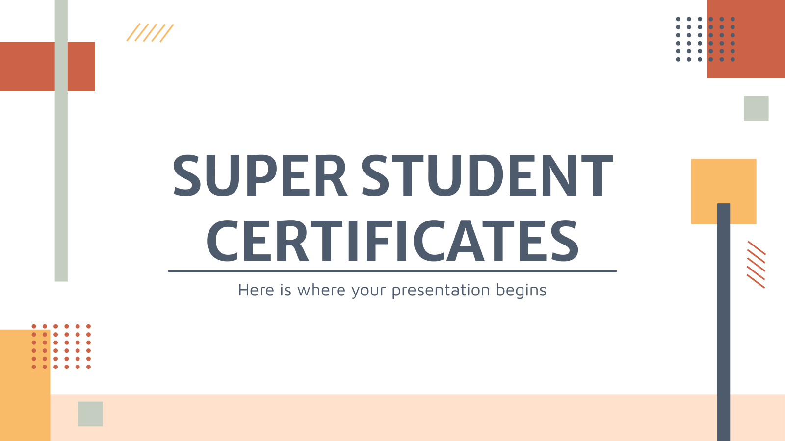 Super Student Certificates presentation template