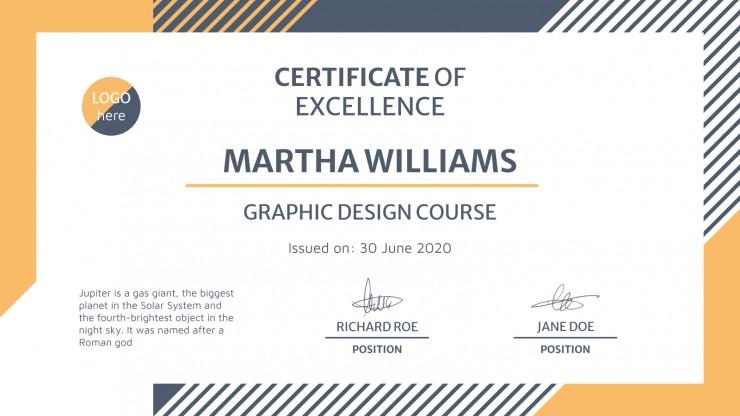 Super Student Certificates presentation template