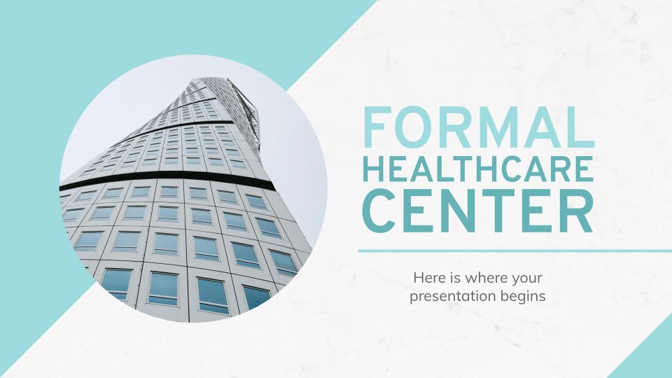 Centre de soins de santé formel : Modèles de présentation