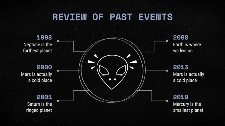 Science-Fiction-Newsletter Präsentationsvorlage
