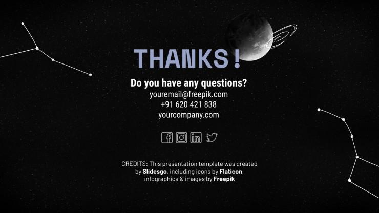 Science Fiction Newsletter presentation template