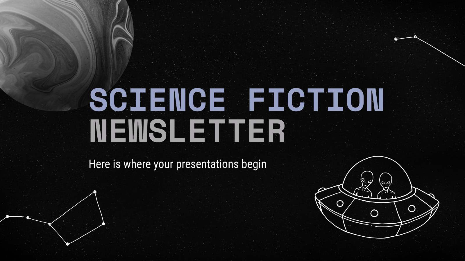 Science Fiction Newsletter presentation template