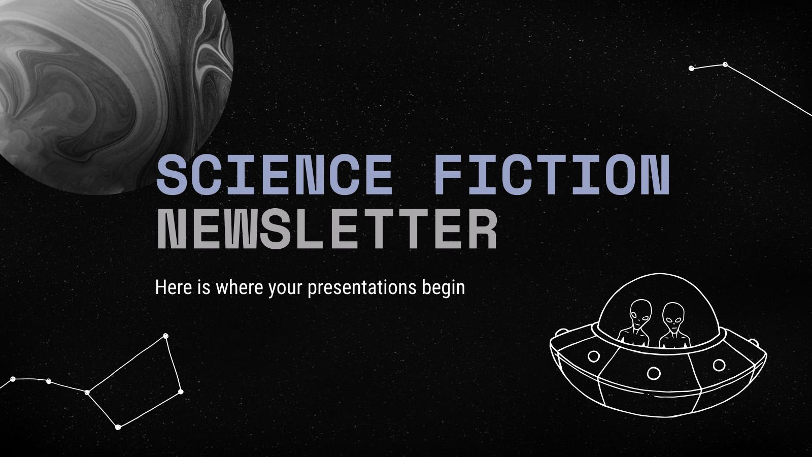 Newsletter de science-fiction : Modèles de présentation