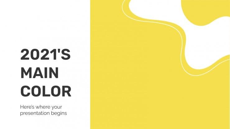 Plantilla de presentación Color principal de 2021