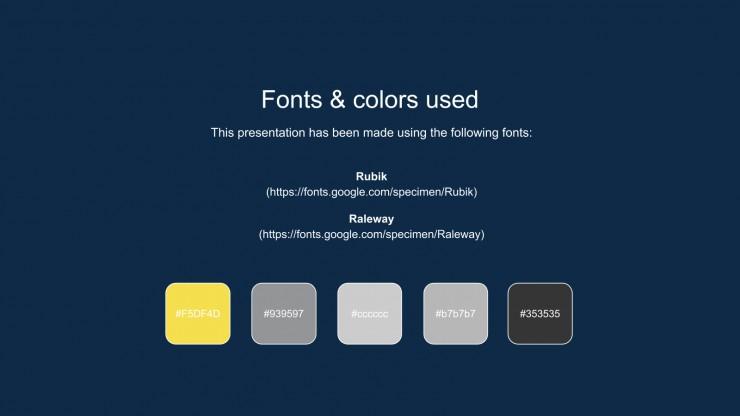 2021's Main Color presentation template