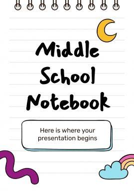 Middle School Notebook presentation template