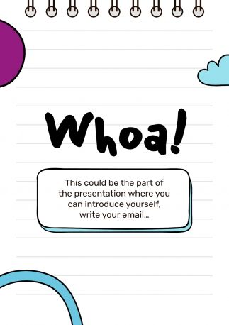Middle School Notebook presentation template