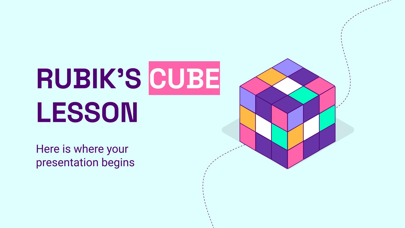 Modelo de apresentação Aula de cubo mágico