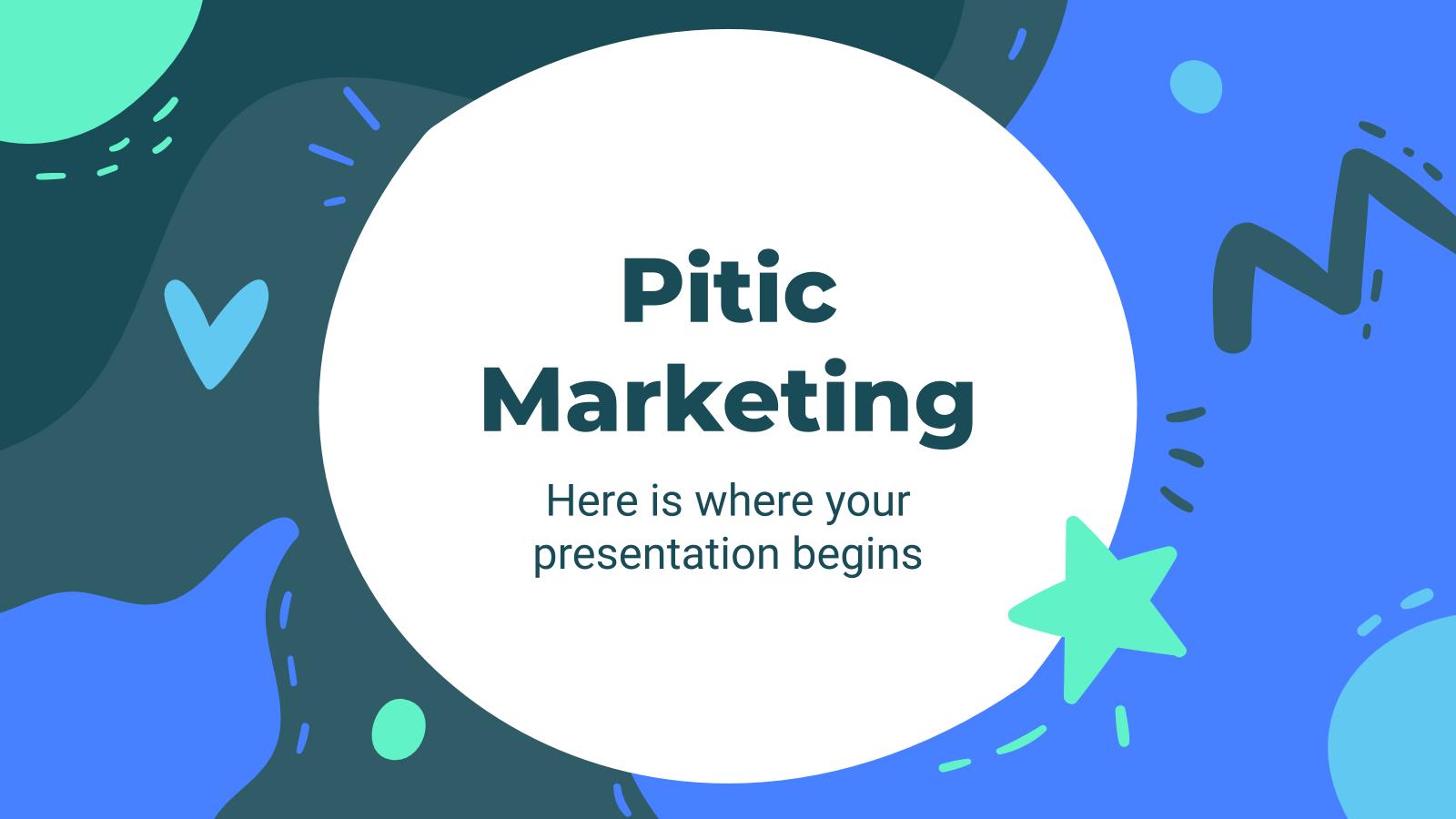 Modelo de apresentação Marketing Pitic