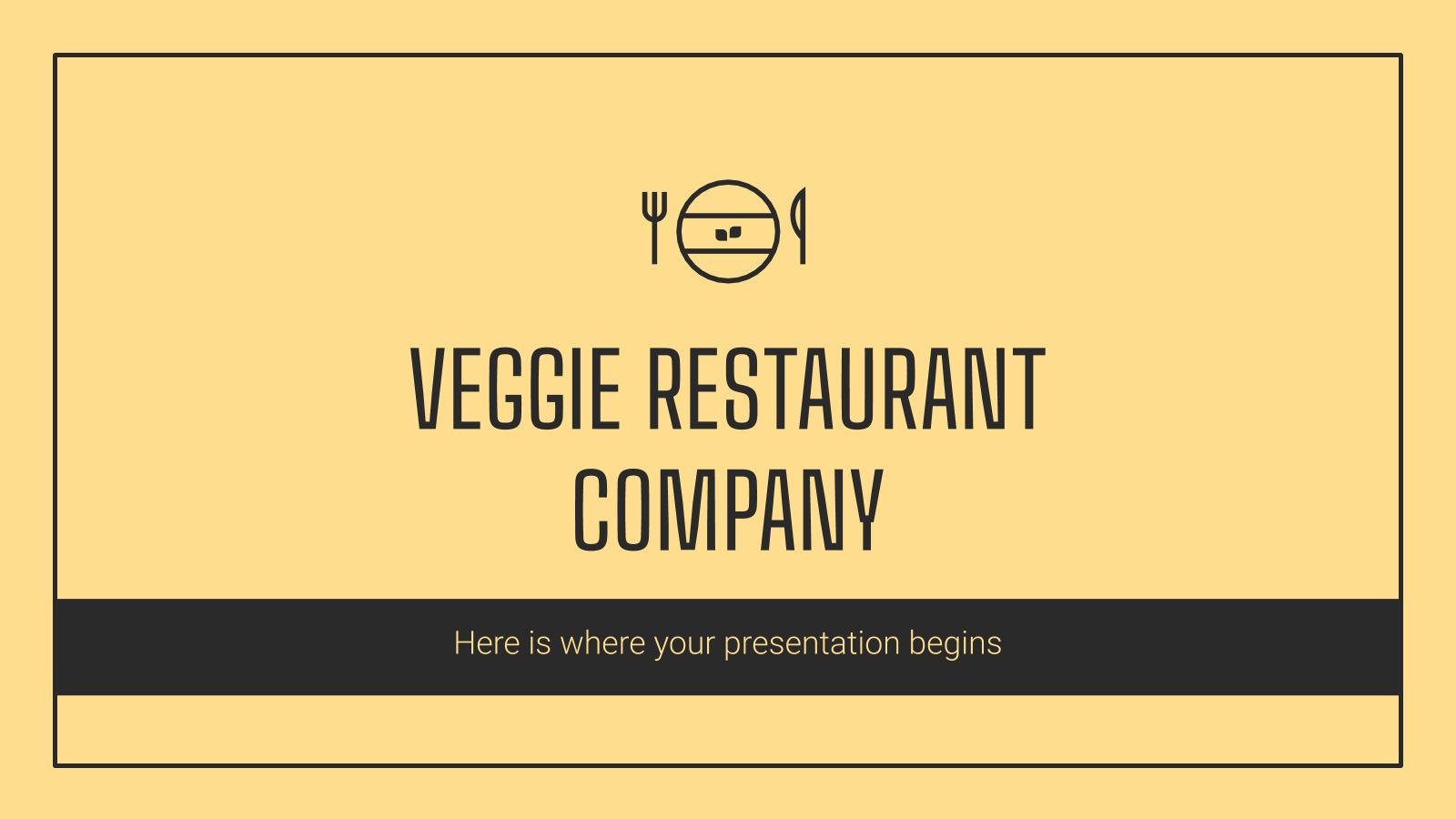 Modelo de apresentação Perfil de restaurante vegetariano